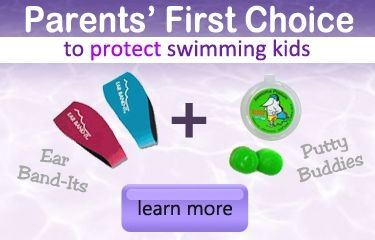 Putty Buddies + Ear Band-Its for Swimming Kids