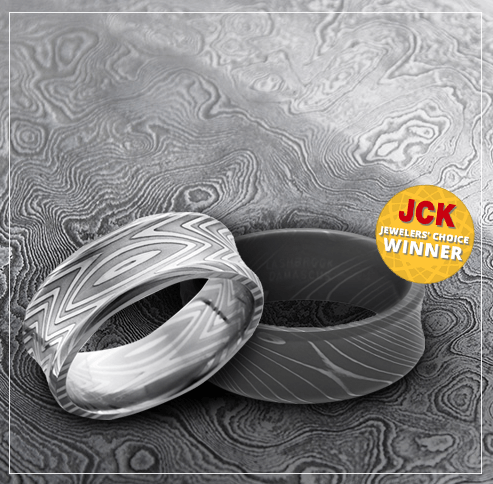 Award Winning Damascus Steel Rings