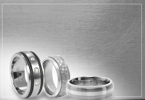 mens titanium rings