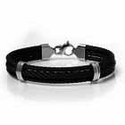 black titanium cable jewelry