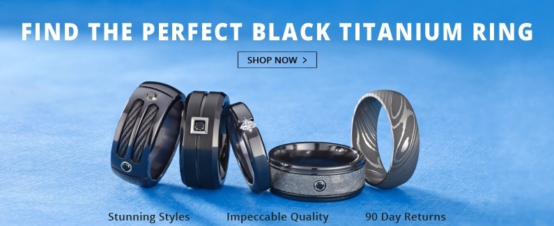 Find the perfect wedding ring for him at Titanium-Jewelry.com