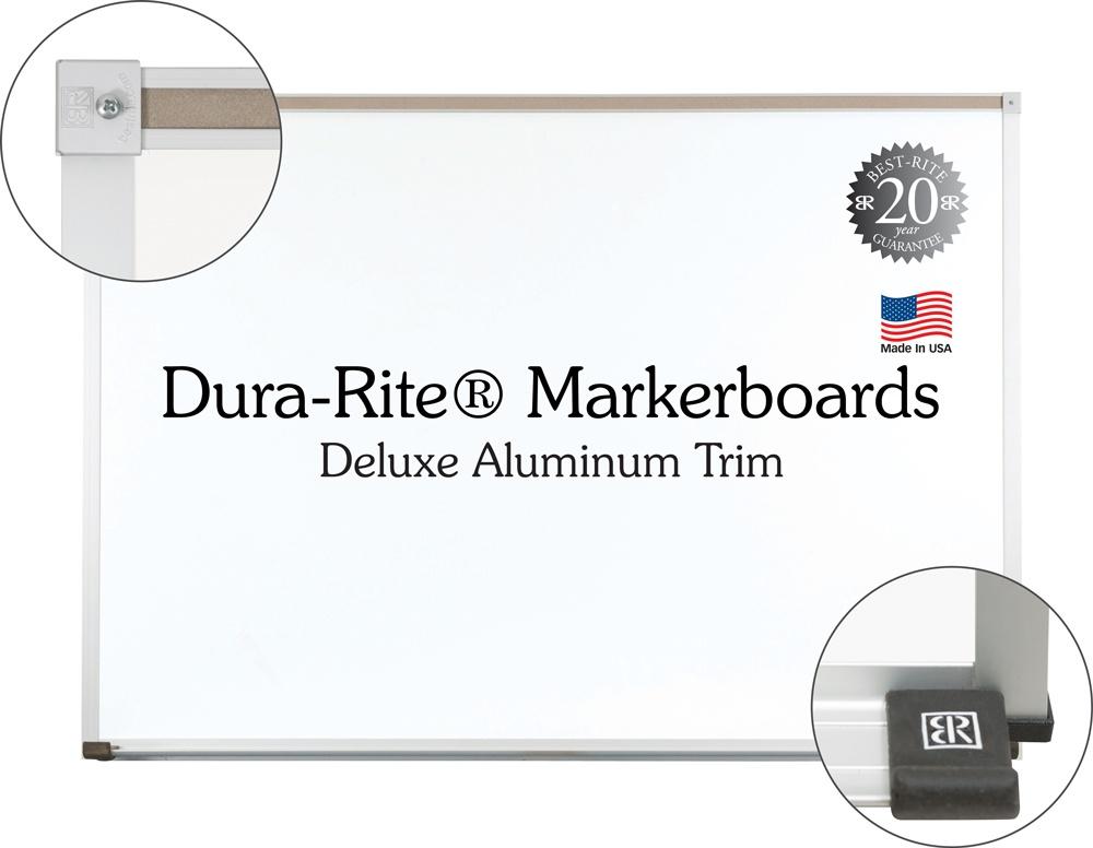 Dura-Rite Aluminum Trim Markerboards