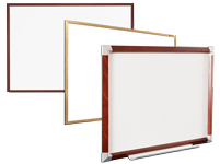 Wood Trim Porcelain Markerboards