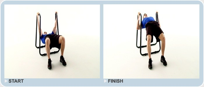 body weight rows on the dip station