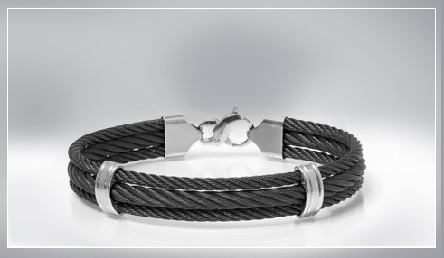 mens titanium, tungsten and stainless steel bracelets