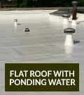 Flat Roof with Ponding Water